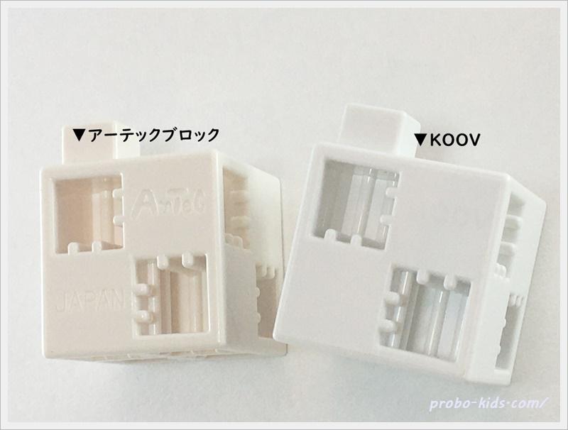 KOOVとアーテックブロックの互換性